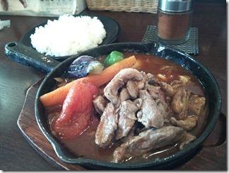 木多郎 網走店 生ラムステーキカリー(3番 1360円) lamb