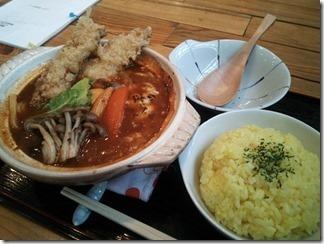 トムトムキキル グツグツ鍋焼きカレーうどん(炙りチーズトッピング)(10番 1200円)