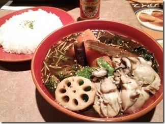 HotSpice ぷりっぷりの大粒牡蛎toほうれん草[覚醒スープ](1180円)